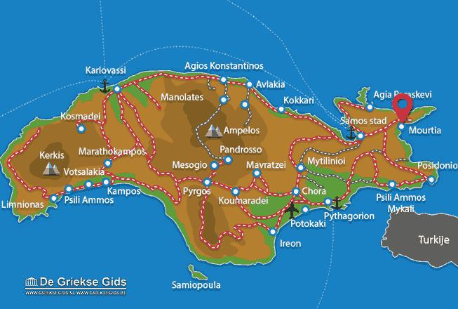 Karte Mourtia