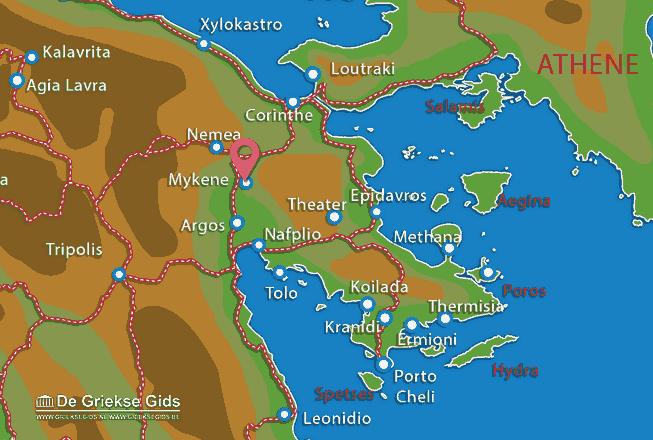 Karte Mycene
