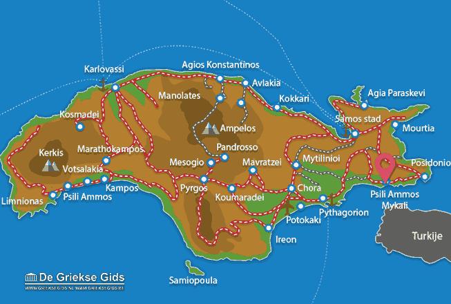 Karte Psili Ammos Mykali