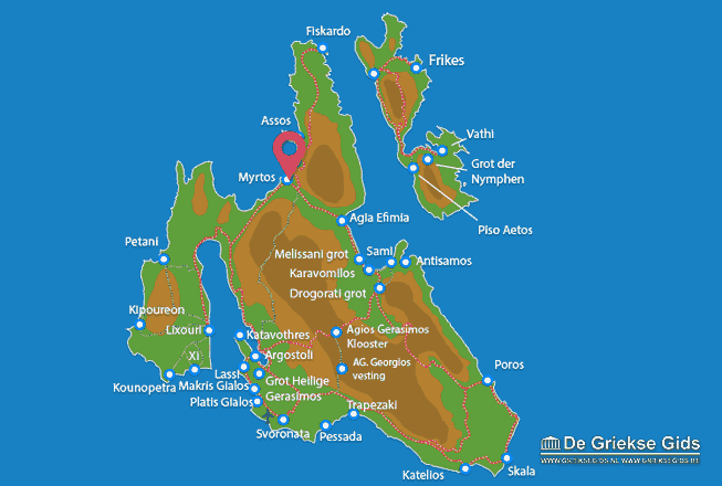 Karte Myrtos