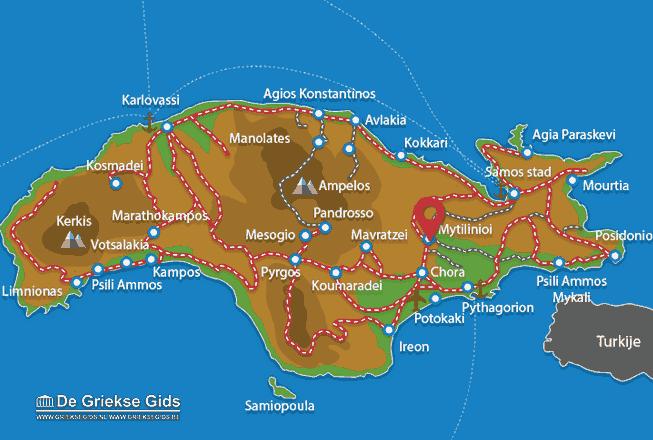 Karte Mytilinioi