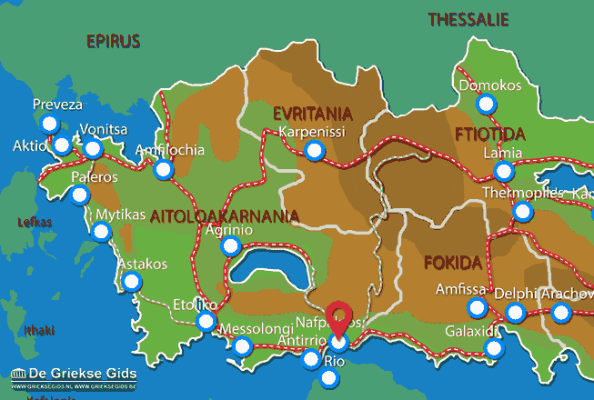 Karte Nafpaktos