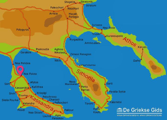 Karte Nea Fokea