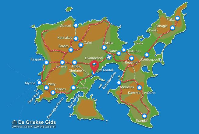 Karte Nea Koutali