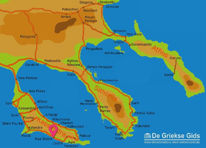 Karte Nea Skioni