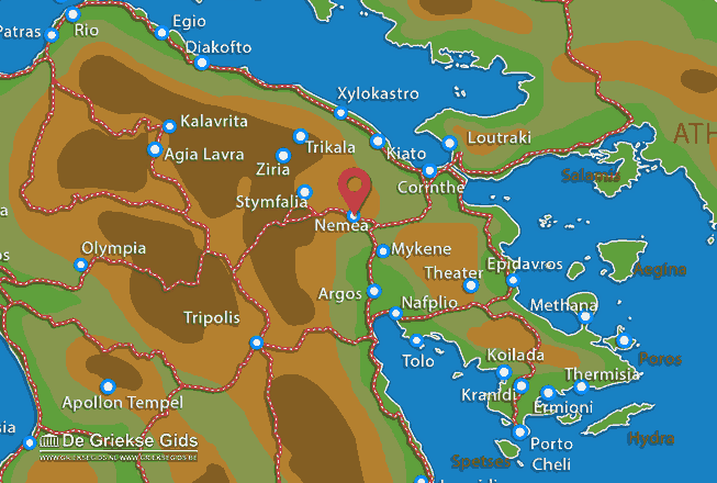 Karte Nemea