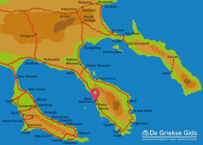 Karte Neos Marmaras