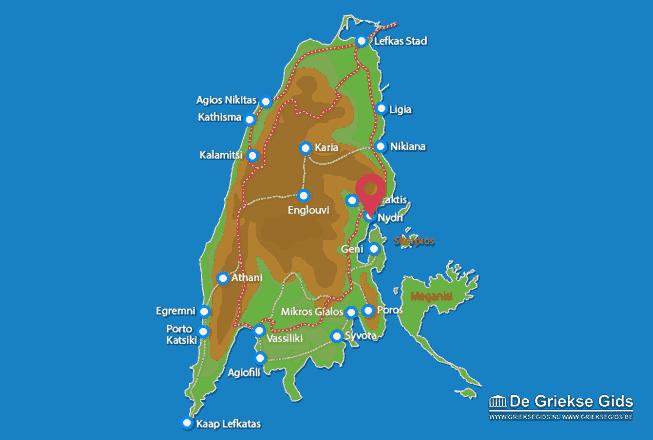Karte Nidri