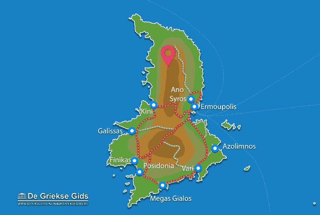 Karte Noord Syros
