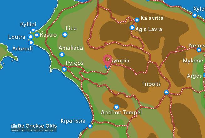 Karte Olympia