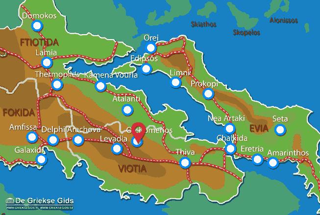 Karte Orchomenos