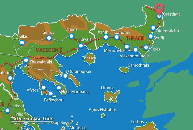 Karte Orestiada
