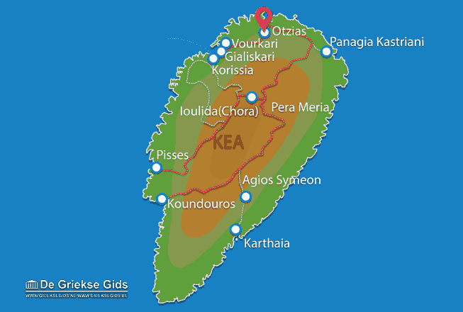 Karte Otzias