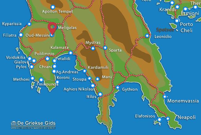 Karte Alt Messini