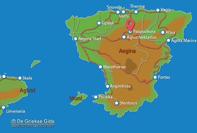 Karte Palaiochora