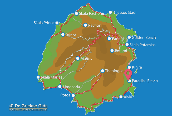 Karte Paradise Beach