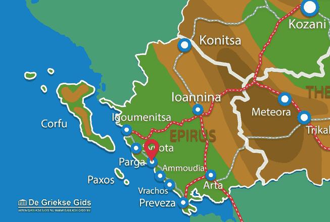 Karte Parga
