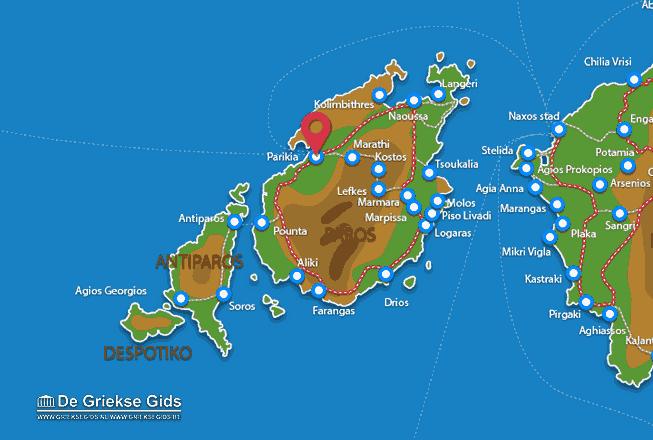 Karte Parikia
