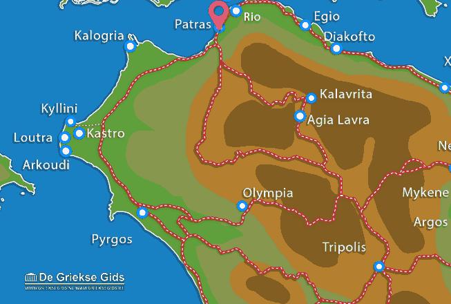 Karte Patras