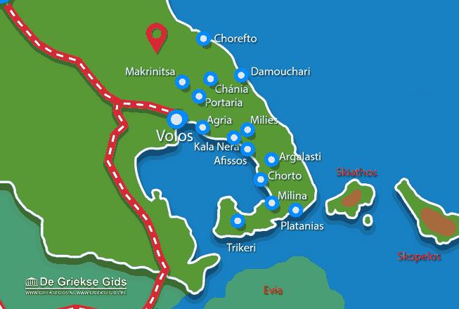 Karte Pilion