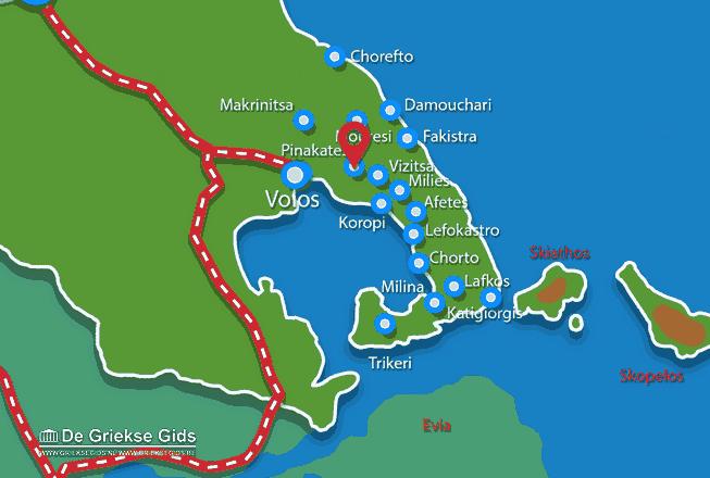 Karte Pinakates Pilion