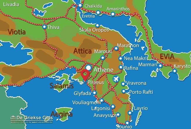 Karte Piräus