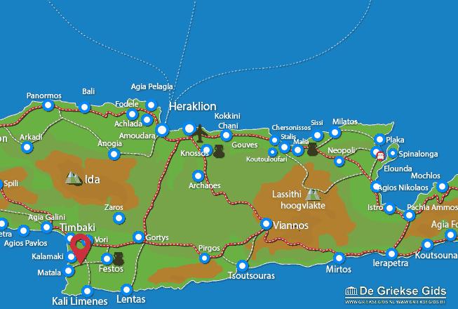 Karte Pitsidia