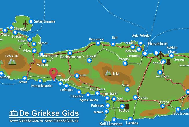 Karte Plakias