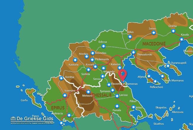 Karte Platamonas
