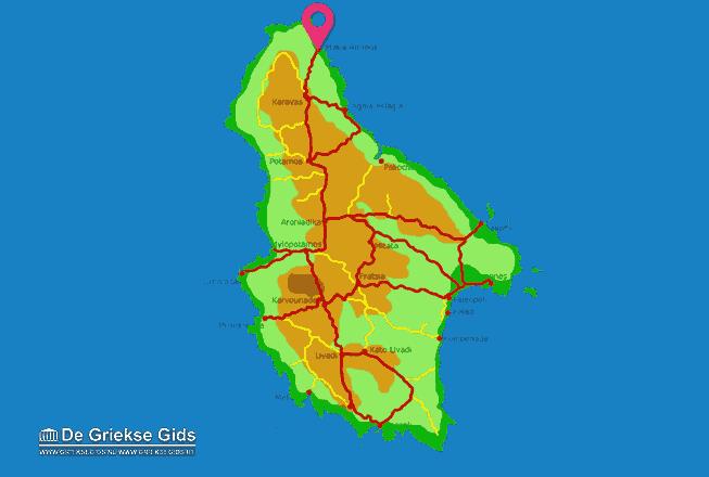 Karte Platia Ammos