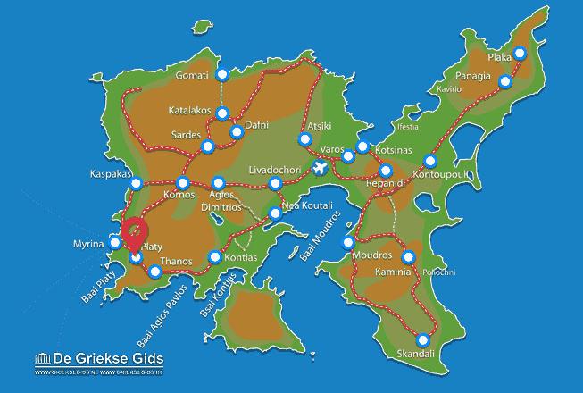 Karte Platy