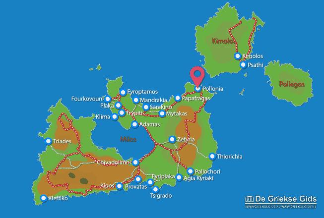 Karte Pollonia