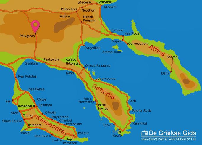 Karte Polygyros