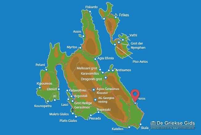 Karte Poros