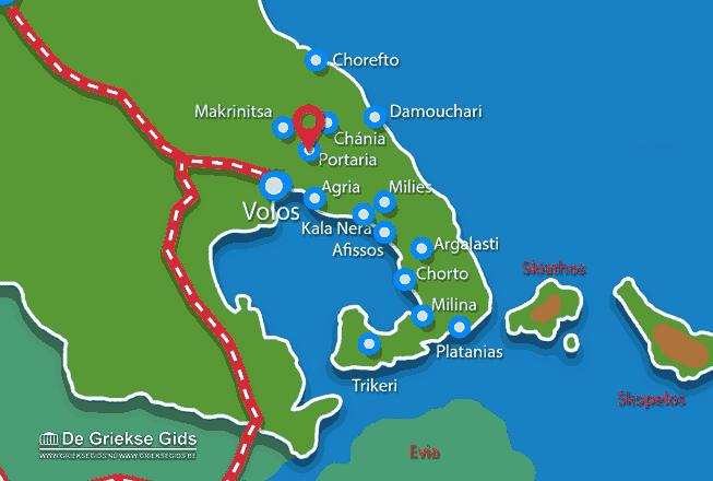 Karte Portaria Pilion