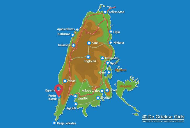 Karte Porto Katsiki