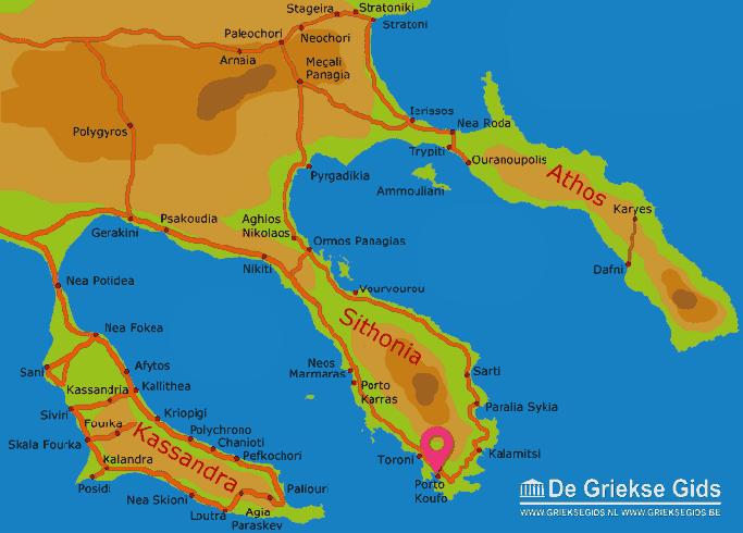 Karte Porto Koufo