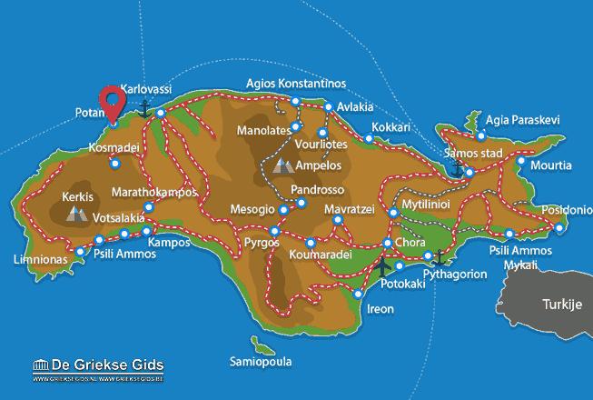 Karte Potami