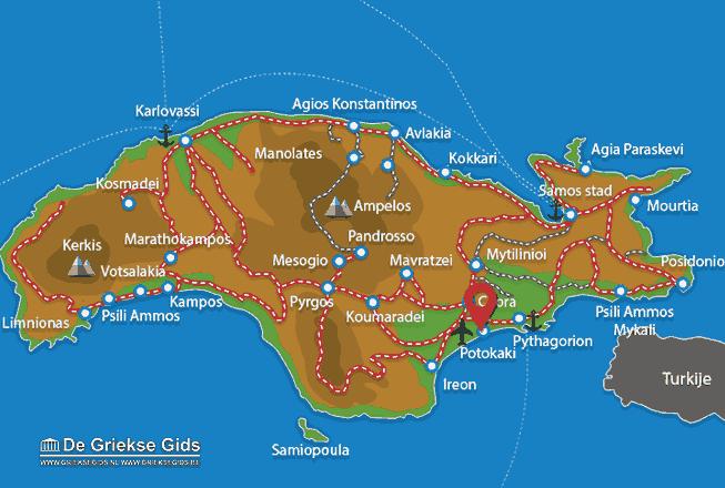 Karte Potokaki