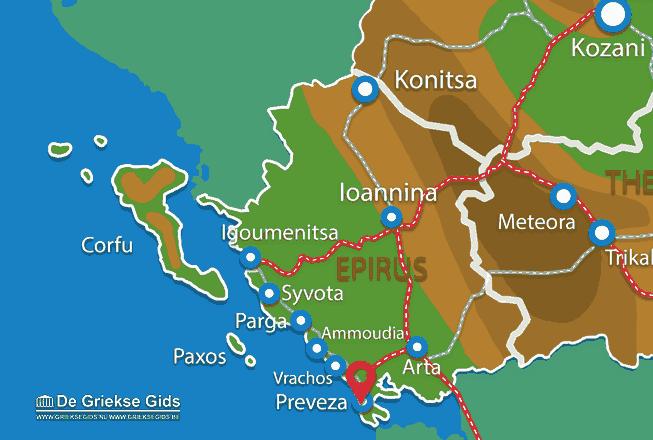 Karte Preveza Stadt