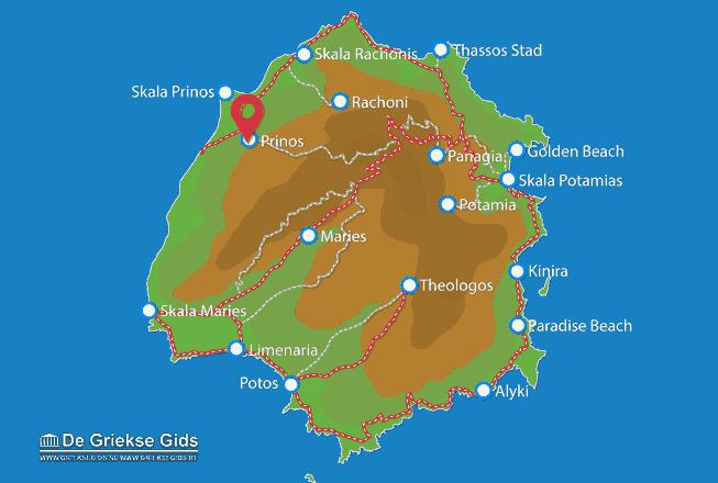 Karte Prinos