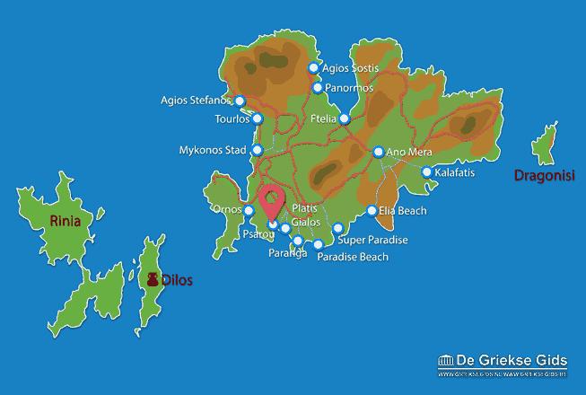 Karte Psarou