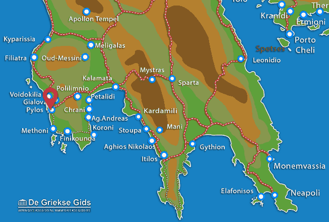 Karte Pylos
