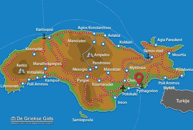 Karte Pythagorion