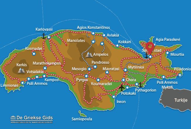 Karte Samos Stadt