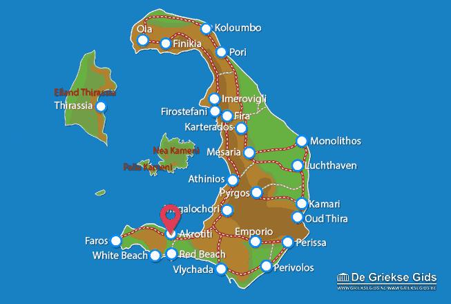 Karte Akrotiri