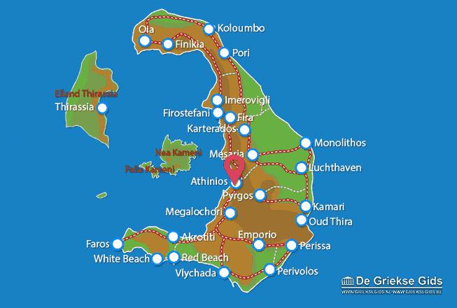 Karte Athinios