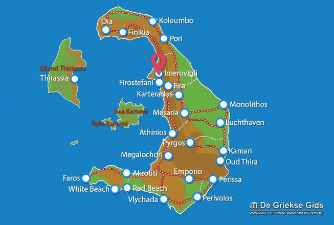 Karte Imerovigli