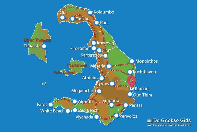 Karte Kamari