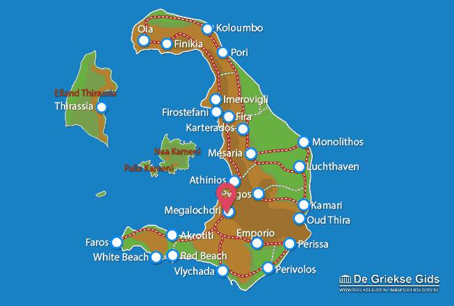 Karte Megalochori